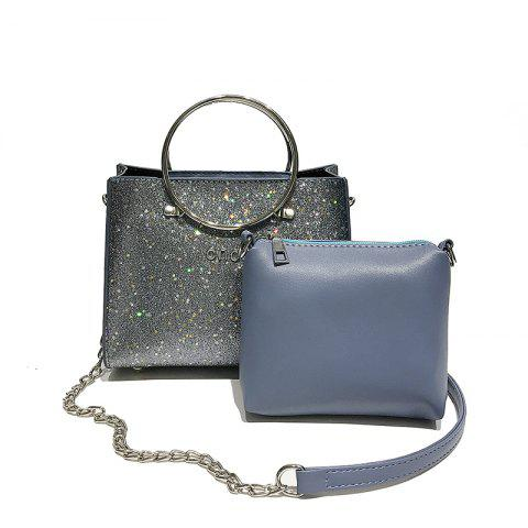 Sale Two-piece Fashion Glitter Handbag Shoulder Messenger Bag