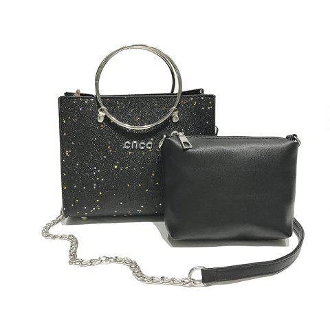 Fancy Two-piece Fashion Glitter Handbag Shoulder Messenger Bag