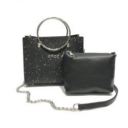 Two-piece Fashion Glitter Handbag Shoulder Messenger Bag -