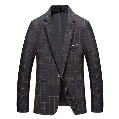 Trendy Men's Casual and Handsome Long Sleeved Suit