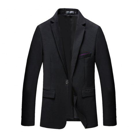 New Man's Pure Color Long Sleeved Suit