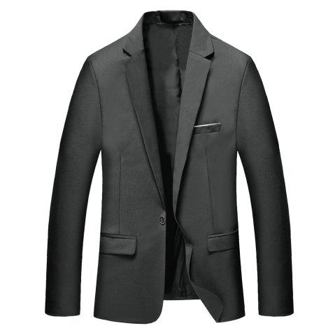 Chic Man's Pure Color Long Sleeved Suit