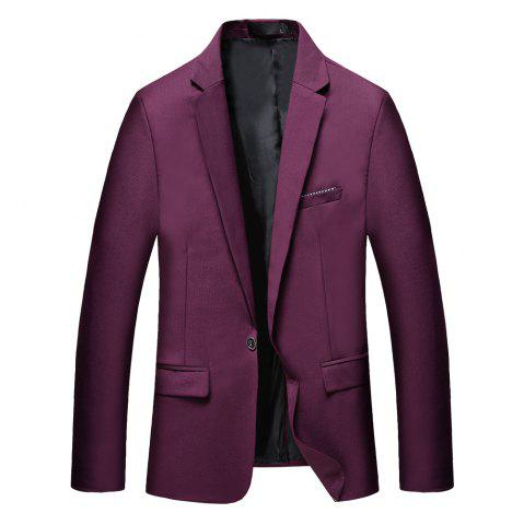 Fashion Man's Pure Color Long Sleeved Suit