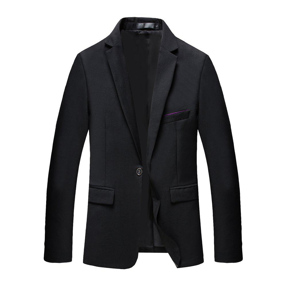 Best Man's Pure Color Long Sleeved Suit