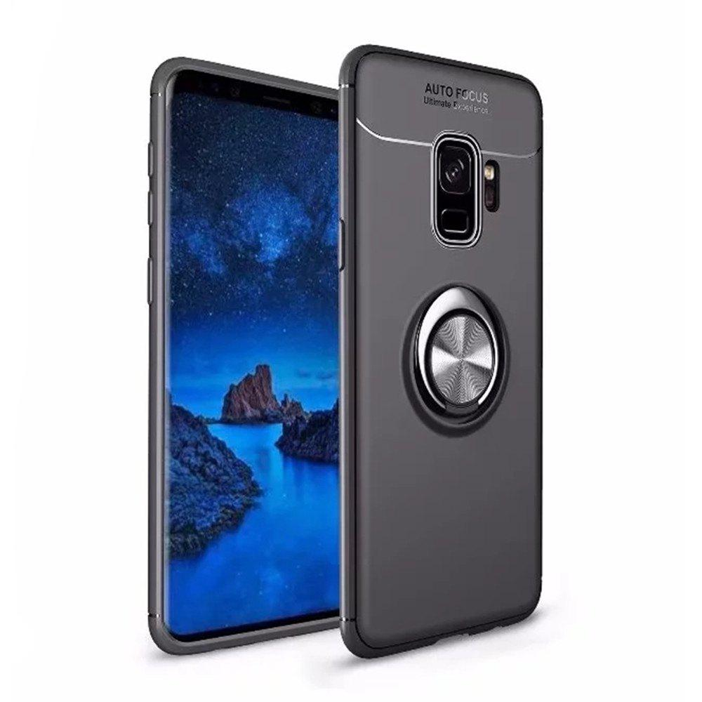 Outfit Cover Case for Samsung Galaxy S9 Plus Stealth Ring Stealth Kickstand - 360 Degree Rotating Ring Grip Finger Loop
