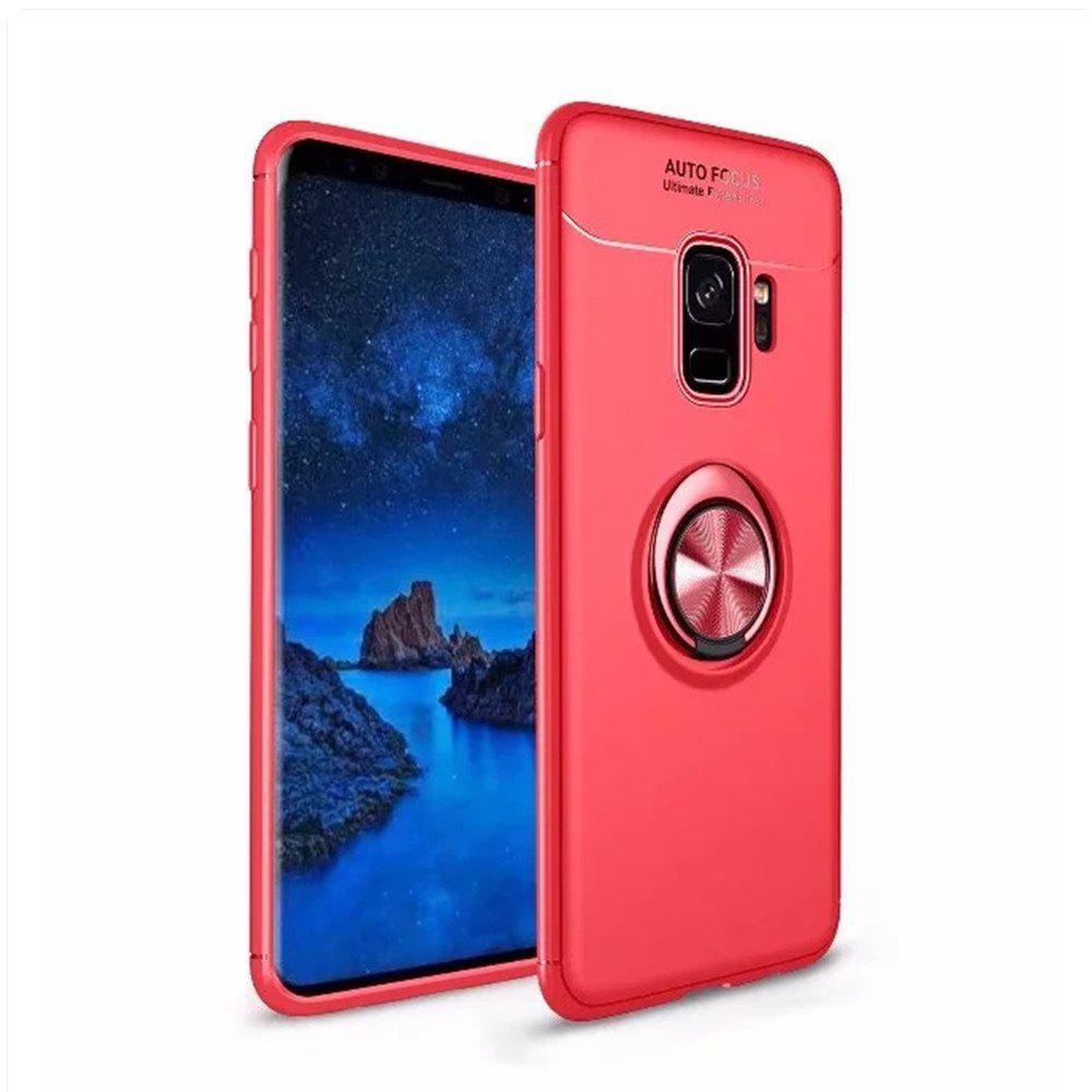 Trendy Cover Case for Samsung Galaxy S9 Plus Stealth Ring Stealth Kickstand - 360 Degree Rotating Ring Grip Finger Loop