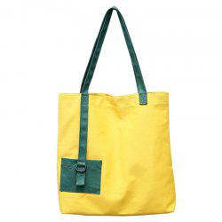 Women Simple Canvas Large-capacity Handbag Shopping Bag -