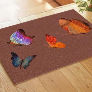 Color Butterfly Outdoor Shoes Scraping Floor Mat Home Soft Carpet  Doormat -