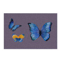 Indoor Outdoor Soft Carpet Home Entrance Big Butterfly Family  Doormat -