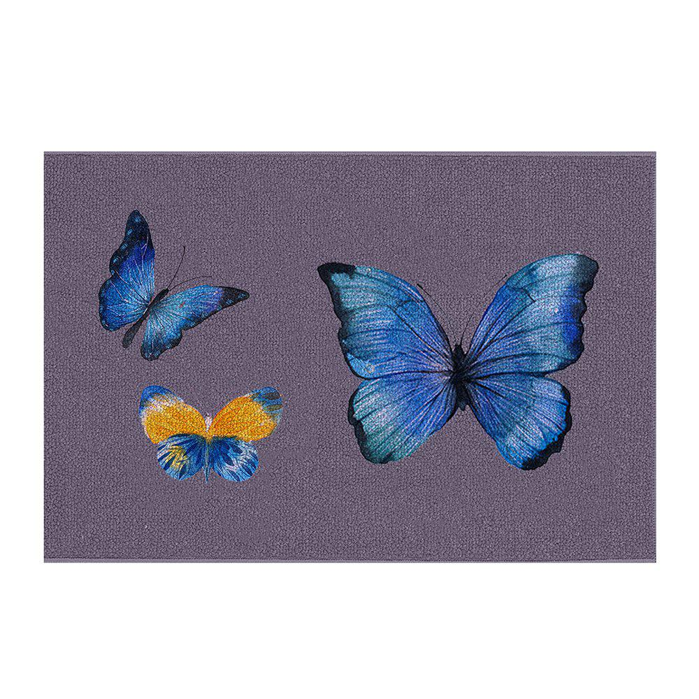 Store Indoor Outdoor Soft Carpet Home Entrance Big Butterfly Family  Doormat