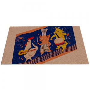 Tapis de la maison créative Cartoon Animal Home Porte de la porte -