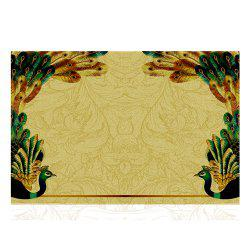 Peacock Design Modern Home Carpet  Doormat Bedroom Shave Shoe Scale Mat -