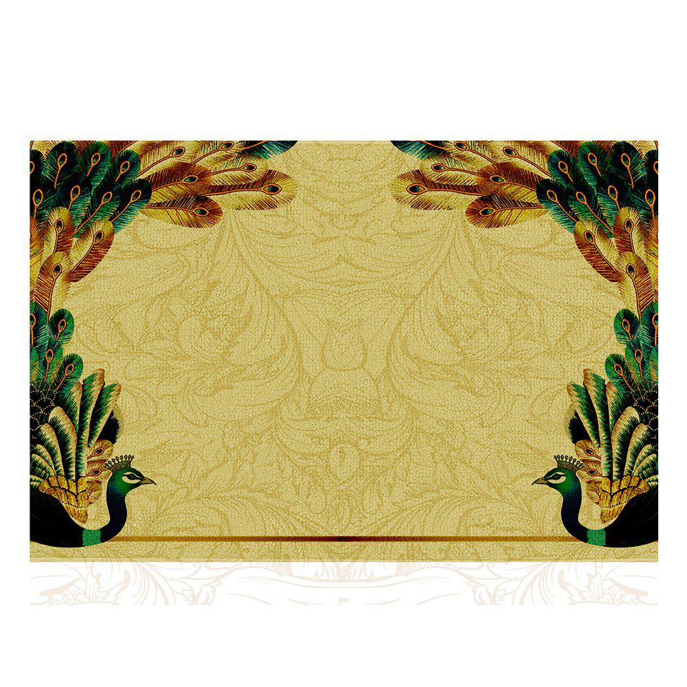 Discount Peacock Design Modern Home Carpet  Doormat Bedroom Shave Shoe Scale Mat
