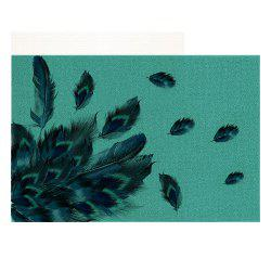 Peacock Outdoor Shoes Front DoorMat Scraper -
