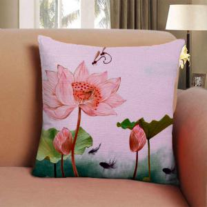 Summer lotus dragonfly Home Furnishing bedroom sofa pillow cushion cover -
