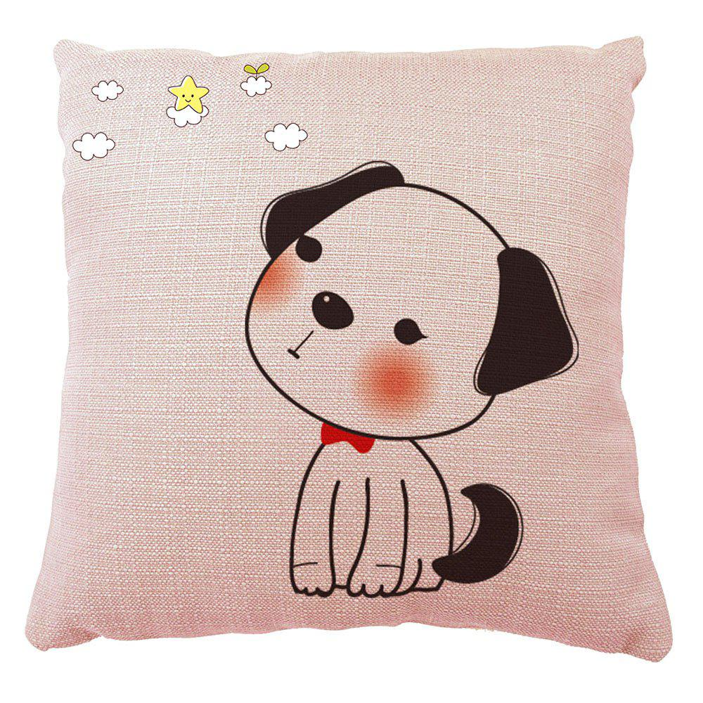 Chic Hand Painted Puppy Home Pillowcase Home adornment Sofa Bedroom Cushion