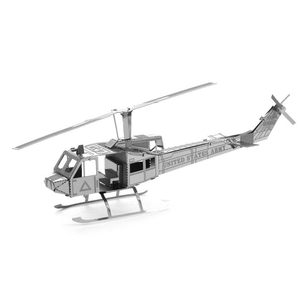 Shop Creative Helicopter 3D Metal High-quality DIY Laser Cut Puzzles Jigsaw Model Toy