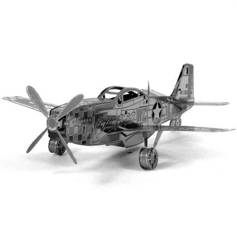 Outfits Creative Mustang Aircraft 3D Metal High-quality DIY Laser Cut Puzzles Jigsaw Model Toy