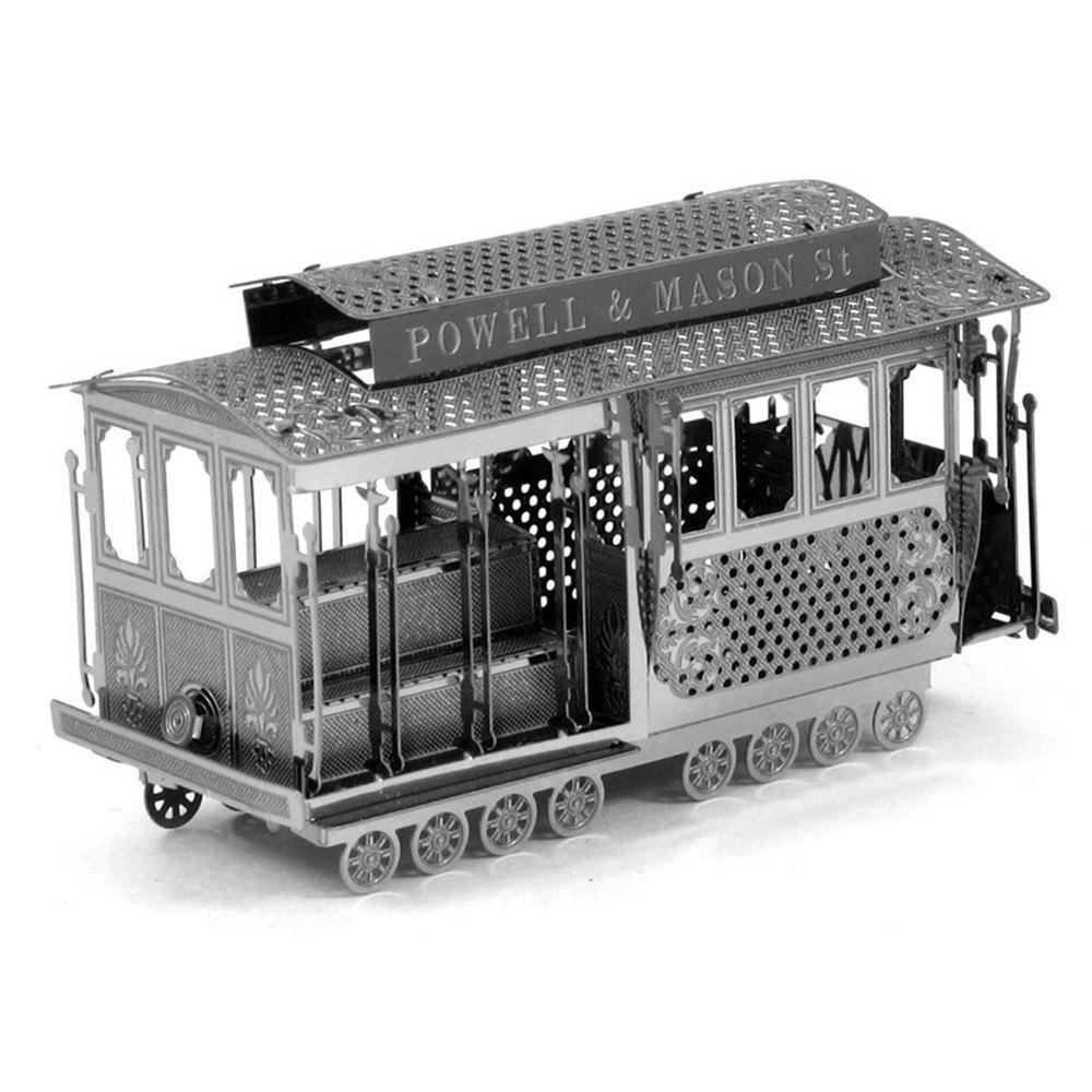 New Creative Sightseeing Tram 3D Metal High-quality DIY Laser Cut Puzzles Jigsaw Model Toy