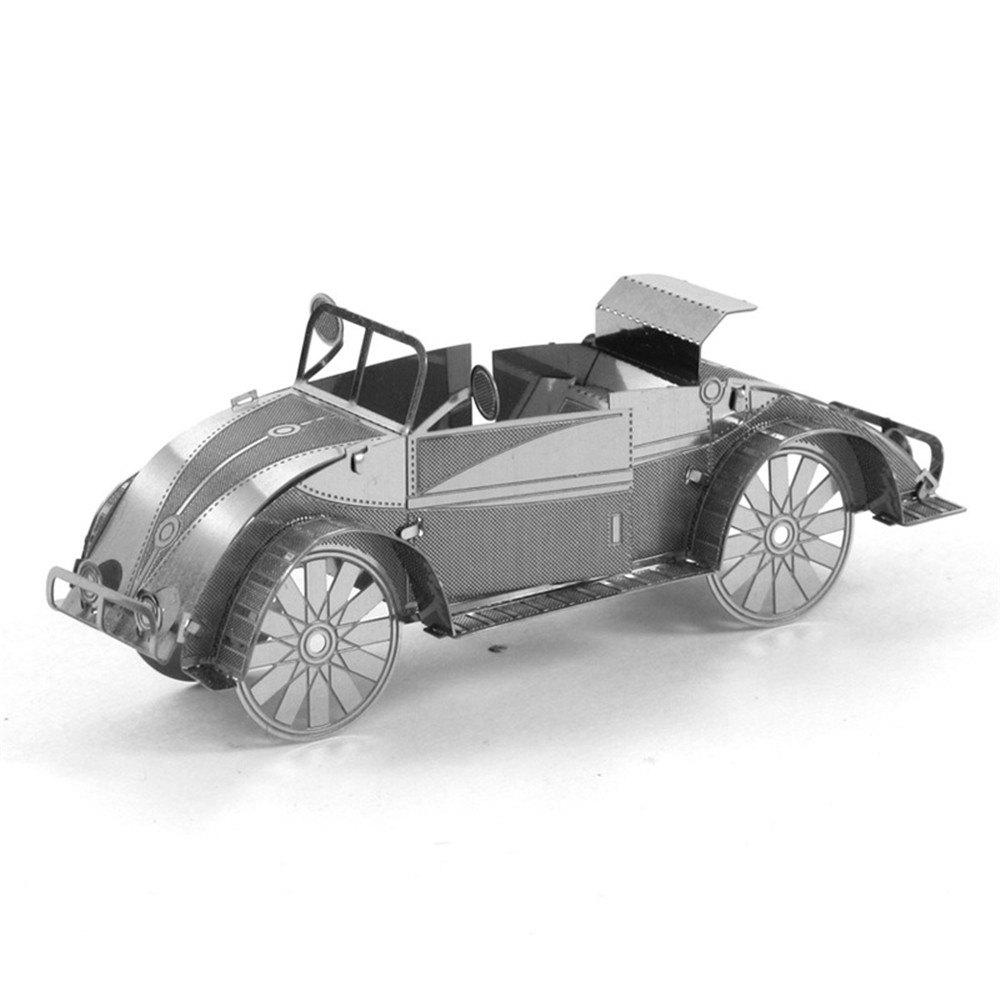 Sale Creative Beetle Car 3D Metal High-quality DIY Laser Cut Puzzles Jigsaw Model Toy