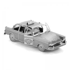 Creative Taxi 3D Metal High-quality DIY Laser Cut Puzzles Jigsaw Model Toy -