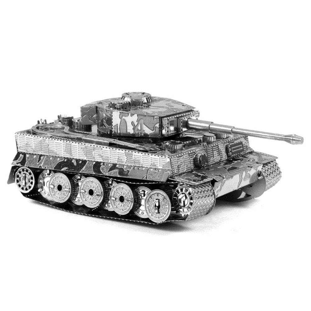 Online Creative Tiger Tank 3D Metal High-quality DIY Laser Cut Puzzles Jigsaw Model Toy