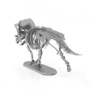 Creative Triceratops Skeleton 3D Metal High-quality DIY Laser Cut Puzzles Jigsaw Model Toy -