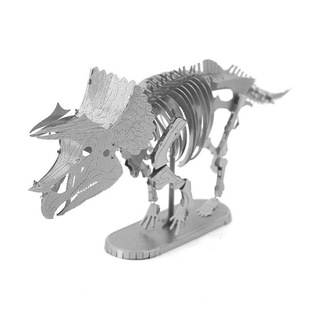 Cheap Creative Triceratops Skeleton 3D Metal High-quality DIY Laser Cut Puzzles Jigsaw Model Toy