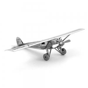 Creative Saint Louis Spirit Plane 3D Metal High-quality DIY Laser Cut Puzzles Jigsaw Model Toy -