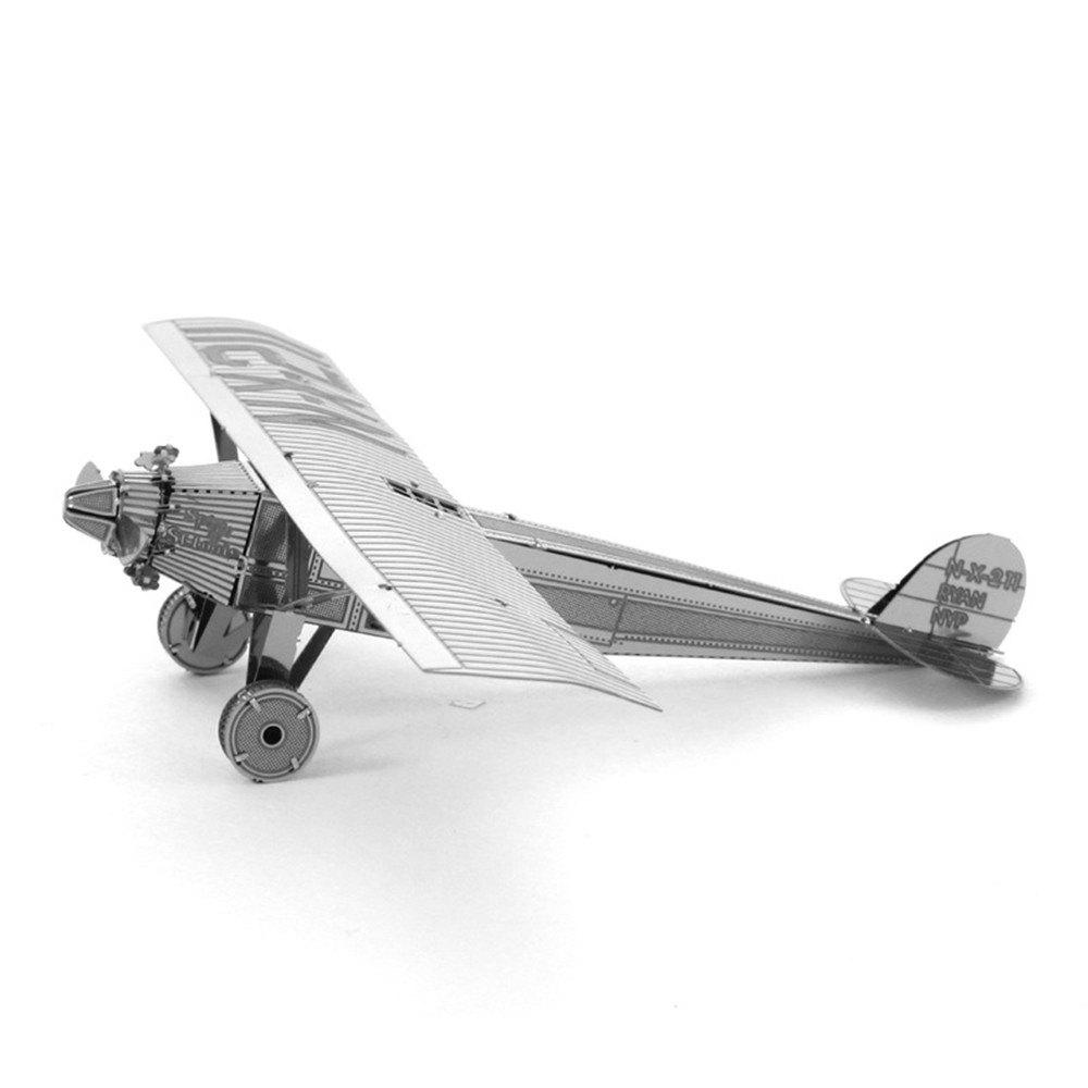 Online Creative Saint Louis Spirit Plane 3D Metal High-quality DIY Laser Cut Puzzles Jigsaw Model Toy