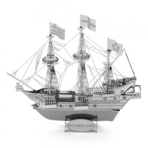 Creative Golden Deer Pirate Ship 3D Metal High-quality DIY Laser Cut Puzzles Jigsaw Model Toy -