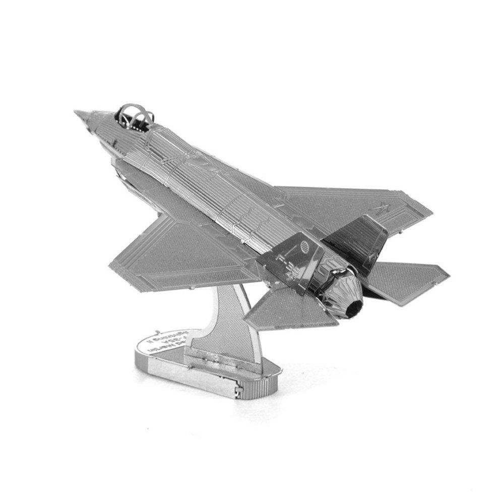 Cheap Creative F35 Fighter 3D Metal High-quality DIY Laser Cut Puzzles Jigsaw Model Toy