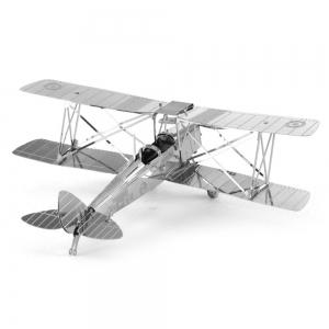 Creative Tiger Moth Biplane 3D Metal High-quality DIY Laser Cut Puzzles Jigsaw Model Toy -