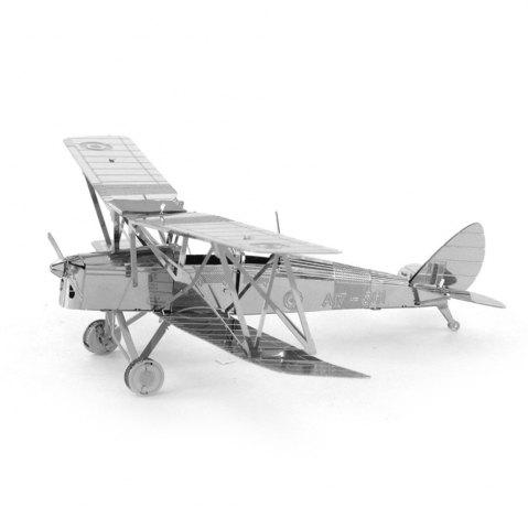 Online Creative Tiger Moth Biplane 3D Metal High-quality DIY Laser Cut Puzzles Jigsaw Model Toy