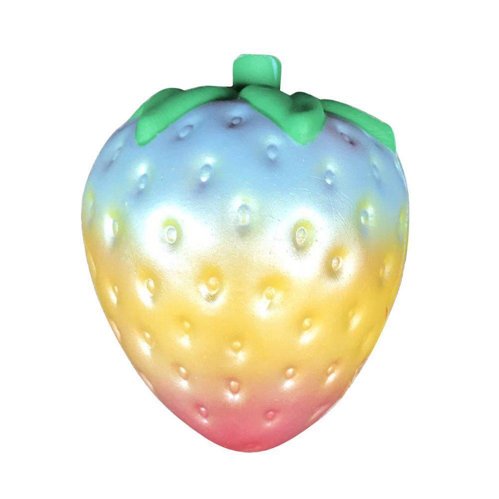 Discount Rainbow Strawberry Jumbo Squishy Scented Slow Rising Rare Fun Toy