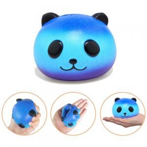 Jumbo Squishy Galaxy Panda and Emoji Stress Relief Soft Toy for Kids and Adults 2PCS -