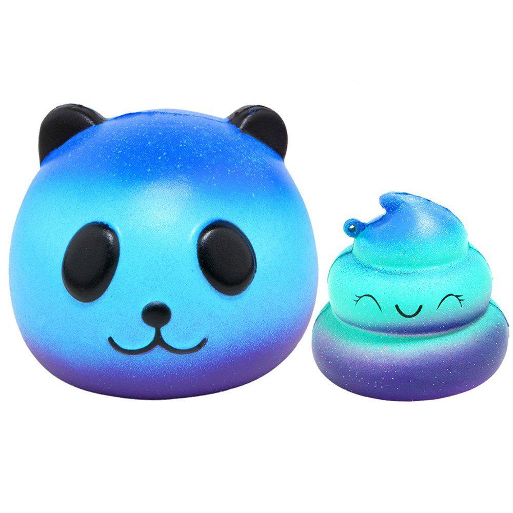 Store Jumbo Squishy Galaxy Panda and Emoji Stress Relief Soft Toy for Kids and Adults 2PCS