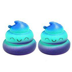 Jumbo Squishy Poop Emoji Stress Relief Soft Toy for Kids and Adults 2PCS -