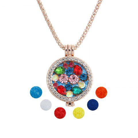 Outfits Stainless Steel Magnetic Floral Aromatherapy Pendant Necklace Essential Oil Diffusion