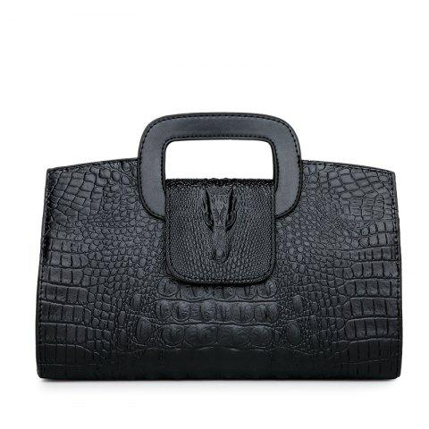 Chic Snake Leather Clutch Bag Female European and American Fashion Portable Handbags Small
