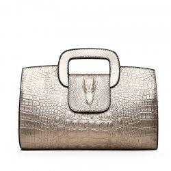 Snake Leather Clutch Bag Female European and American Fashion Portable Handbags Small -