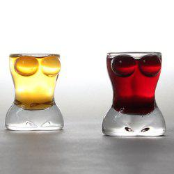 25ml 0.85oz Creative Sexy Lady Body Shape Vodka Whiskey Shot Wine Glass 2-Pack -