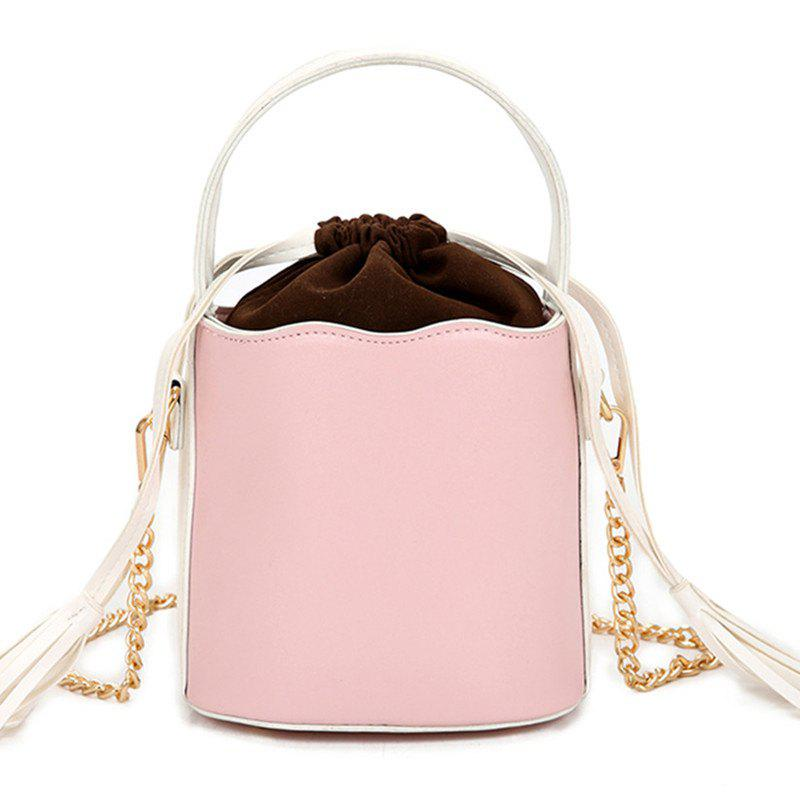 Trendy Tassel Bucket Bag Oblique Cross Package