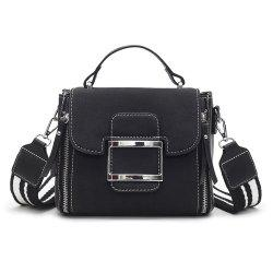 Fashionable Joker Lock Inclined Shoulder Bag -