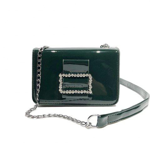 Hot Fashion Wild Chain Patent Leather Bright Shoulder Bag