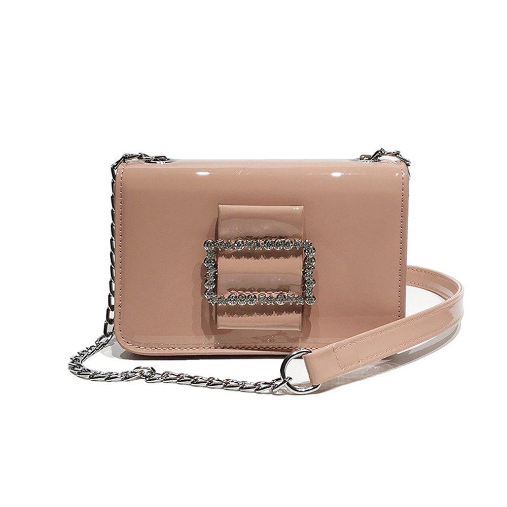 Outfit Fashion Wild Chain Patent Leather Bright Shoulder Bag