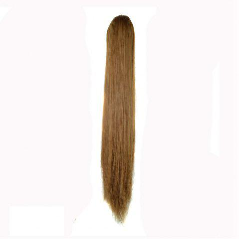 Chic Long Straight  Heat Resistant Fibre Synthetic Claw Ponytail Clip in Hair Extensions