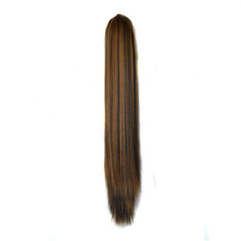 Outfits Long Straight  Heat Resistant Fibre Synthetic Claw Ponytail Clip in Hair Extensions