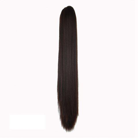 Fashion Long Straight  Heat Resistant Fibre Synthetic Claw Ponytail Clip in Hair Extensions