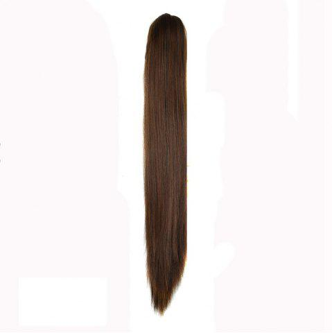 Discount Long Straight  Heat Resistant Fibre Synthetic Claw Ponytail Clip in Hair Extensions